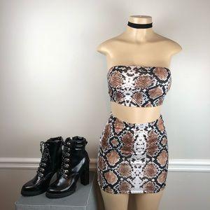 PrettyLittleThing 2-piece skirt set